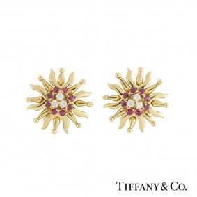 Tiffany & Co. Ruby & Diamond Earrings